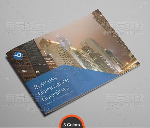 高端大气横板企业介绍团队介绍画册模板