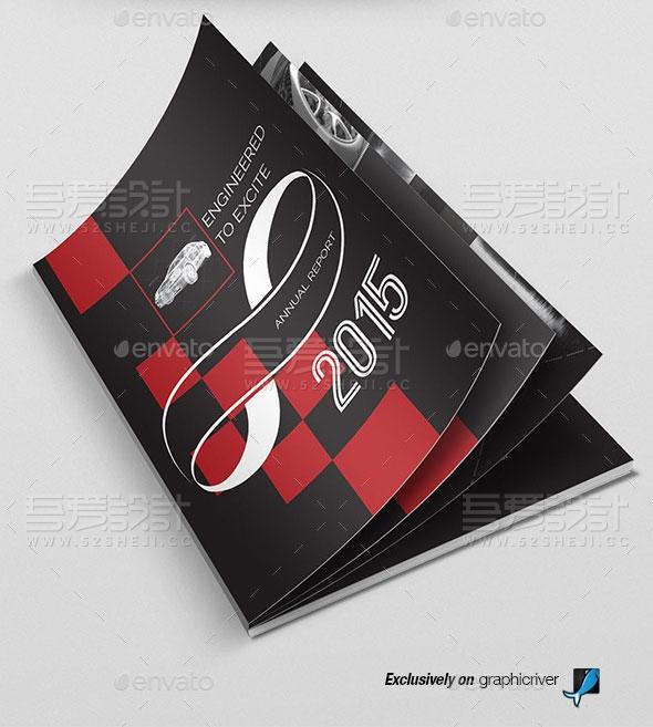 黑红双色高端大气企业宣传画册模板