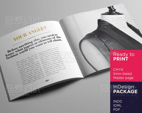 方形广场时尚产品手册画册模板