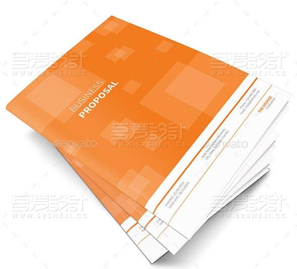 橙色简约大气企业宣传画册模板