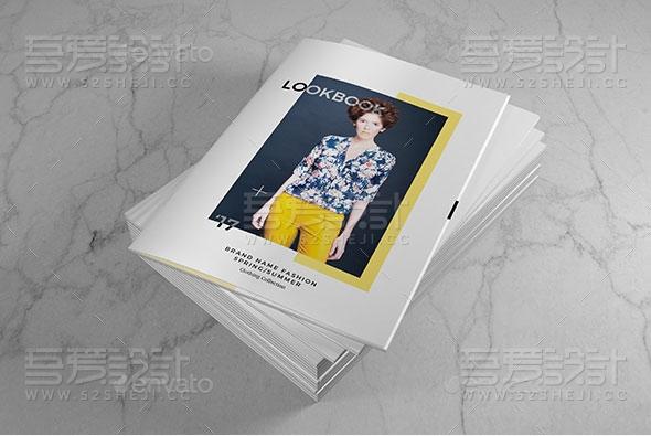 服装展示杂志宣传画册模板