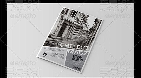 建筑行业摄影写真杂志画册模板
