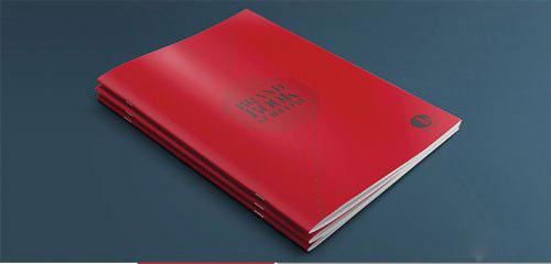 红色简约宣传画册模板