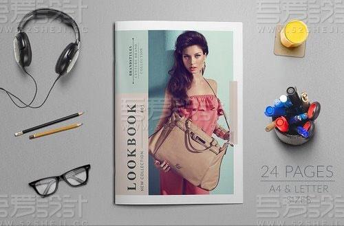 产品展示人物摄影写真杂志宣传画册模板
