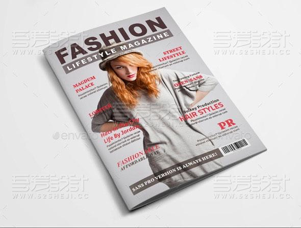简约杂志风格服装展示画册模板