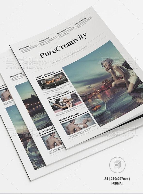杂志摄影写真画册模板
