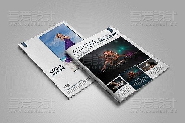 人物摄影写真服装展示杂志画册模板