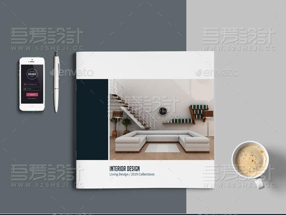 家具展示简约大气企业宣传画册模板