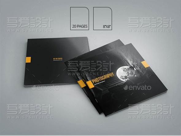 高端大气产品展示方形画册模板