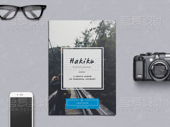 简约大气杂志宣传画册模板