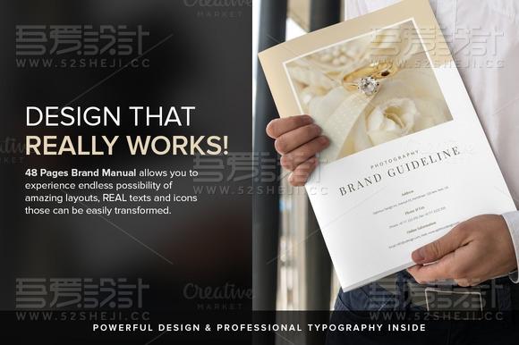 摄影品牌指南画册模板