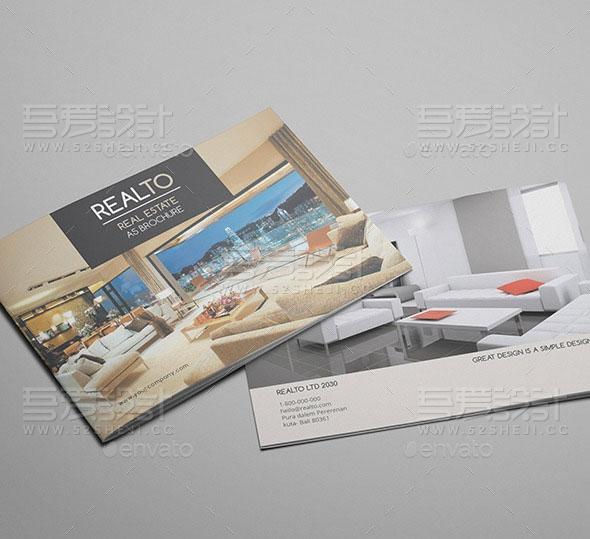 高端精美室内设计宣传画册模板