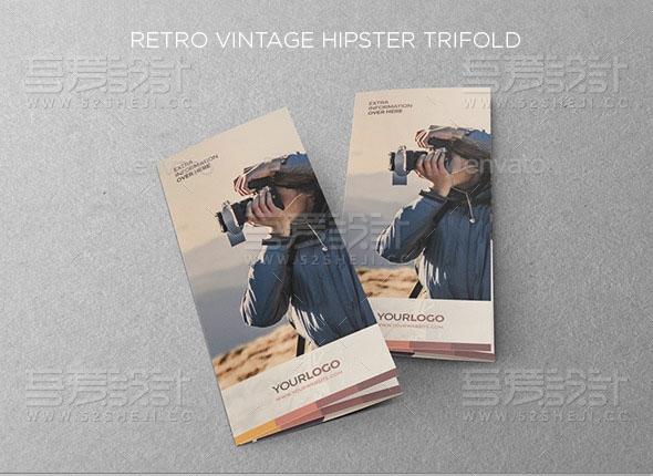 旅游摄影写真三折页模板