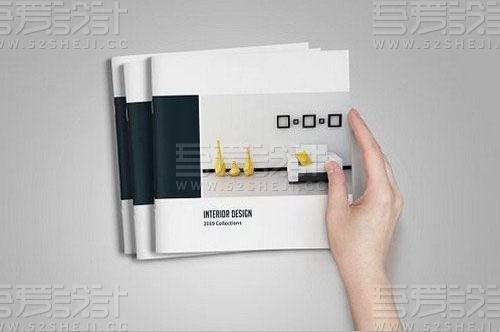 简约方形家具展示画册模板