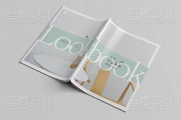 清新时尚的产品画册设计模板