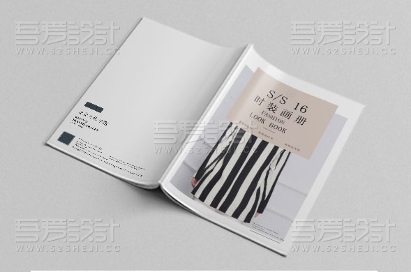 高端时尚大气的服装画册设计模板