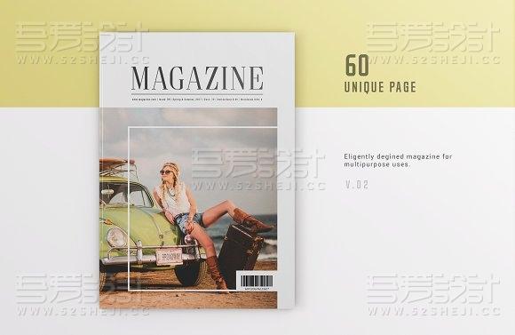 简约大气旅游摄影杂志画册模板