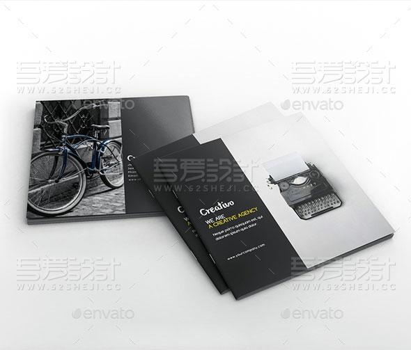 创意简约风格方形摄影写真画册模板
