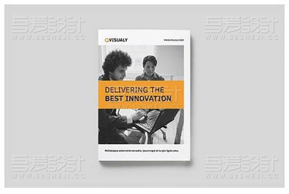 简约欧美风格团队介绍企业宣传画册模板