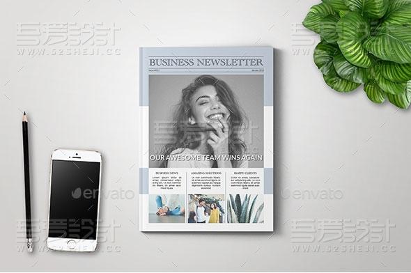 杂志风格时事通讯画册模板