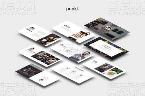 餐饮烹饪美食介绍展示多用途PPT模板