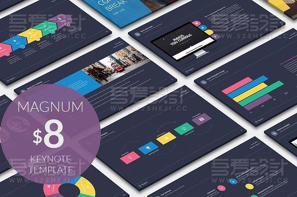 45页精美创意风格keynote模板