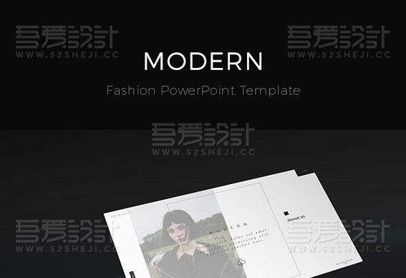 90页黑白简约艺术风格PPT模板