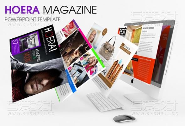 40页购物模特杂志排版风格PPT模板