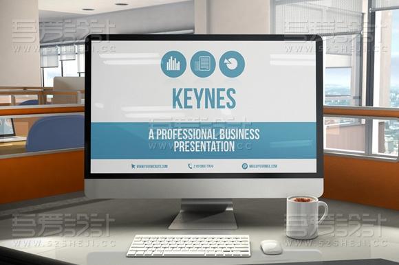 蓝色商务汇报总结计划Keynote模板