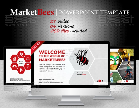 红色创意产品展示PPT模板